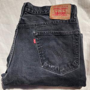 Levi 550  Jeans  Black, 36 X 30